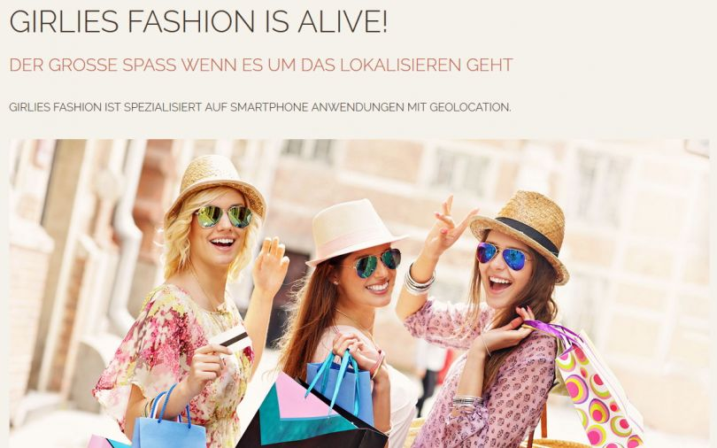 Girlies Fashion AG Web and Mobile App GEO